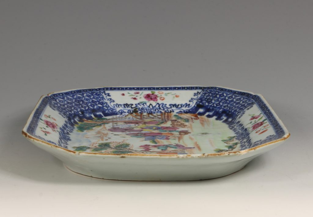 Chinese Mandarin Palette Meat Plate Qianlong C1760/70 5