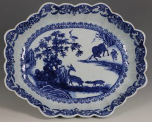 A Chinese Blue and White Deep Dish Qianlong C1765