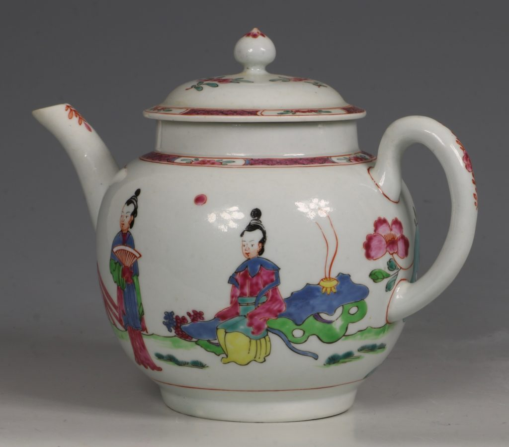 A Fine and Rare Chaffers Liverpool Teapot C1760 2