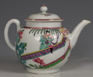 A Fine and Rare Chaffers Liverpool Teapot C1760
