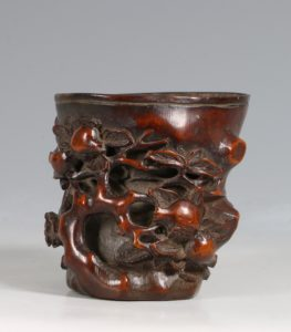 Chinese Bamboo Libation Cup 17/18thC
