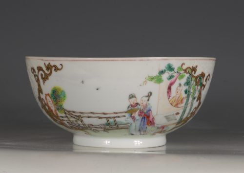 A Chinese Famille Rose Bowl Qianlong C1740