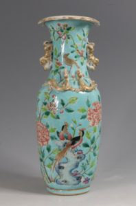 A Fine Straits Chinese Perananakan Vase 19thC