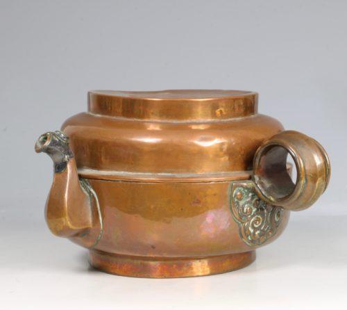 A Tibetan Copper Tea Pot 19thC