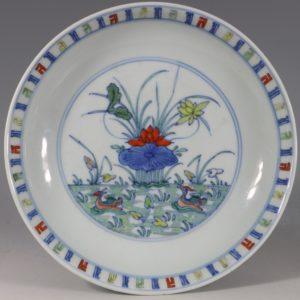 A Chinese Doucai Saucer Dish Yongzheng C1723/36