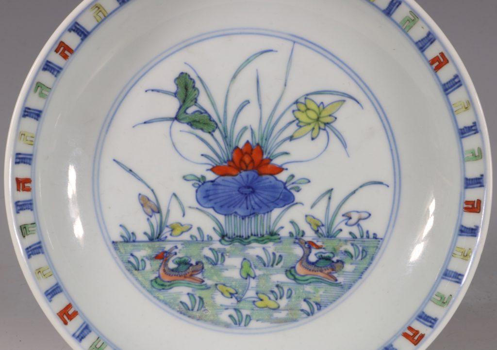 A Doucai Saucer Dish Yongzheng C1723/36 1