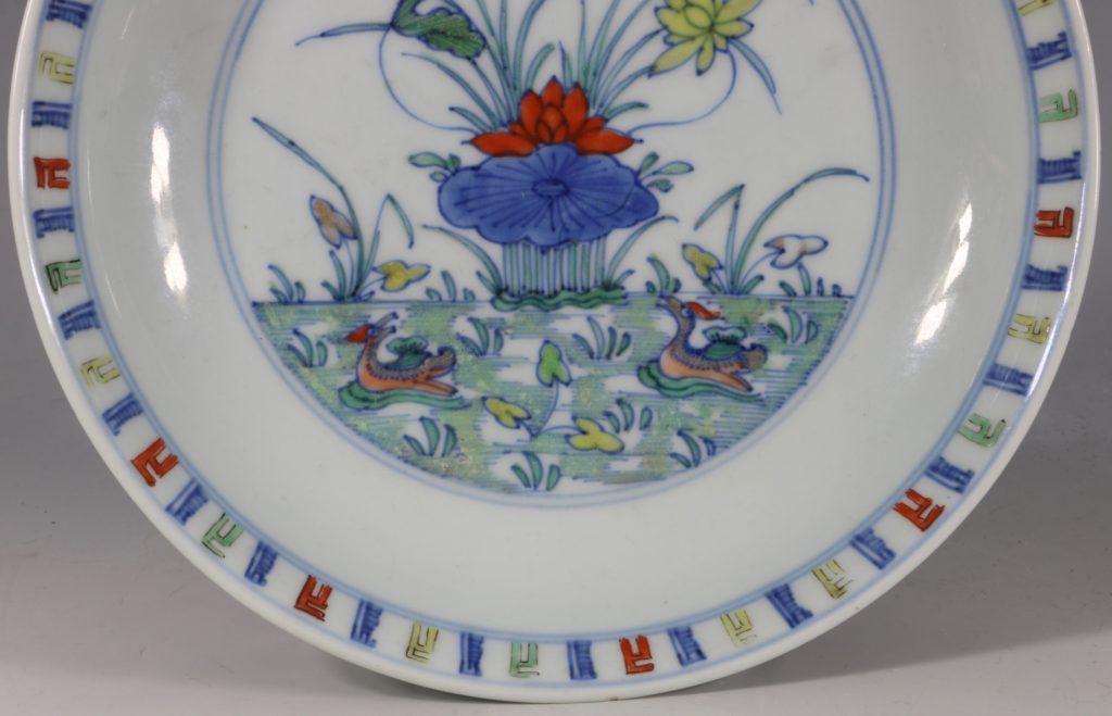 A Doucai Saucer Dish Yongzheng C1723/36 3