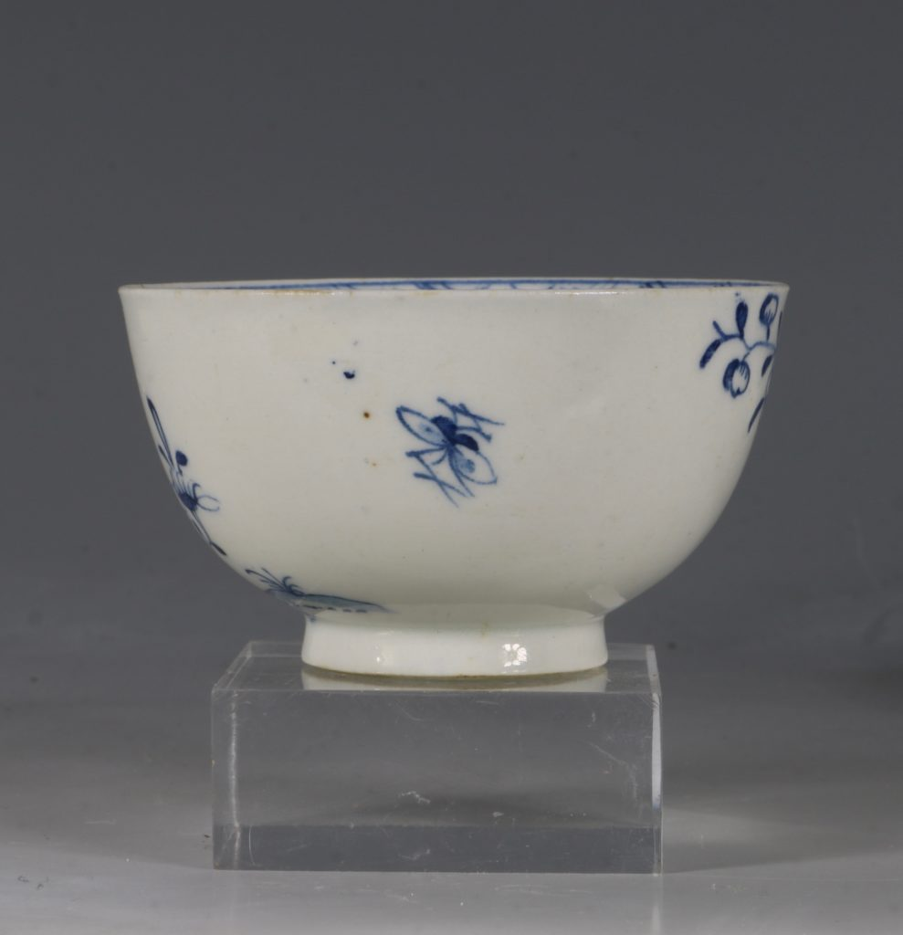 A Lowestoft Blue and White Tea bowl and Saucer C1770 5