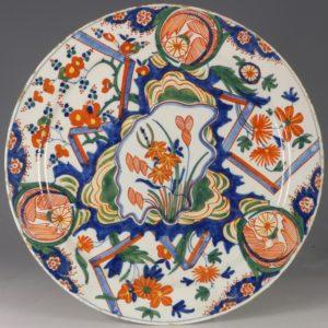 A Polychrome Dutch Delft Plate E18thC