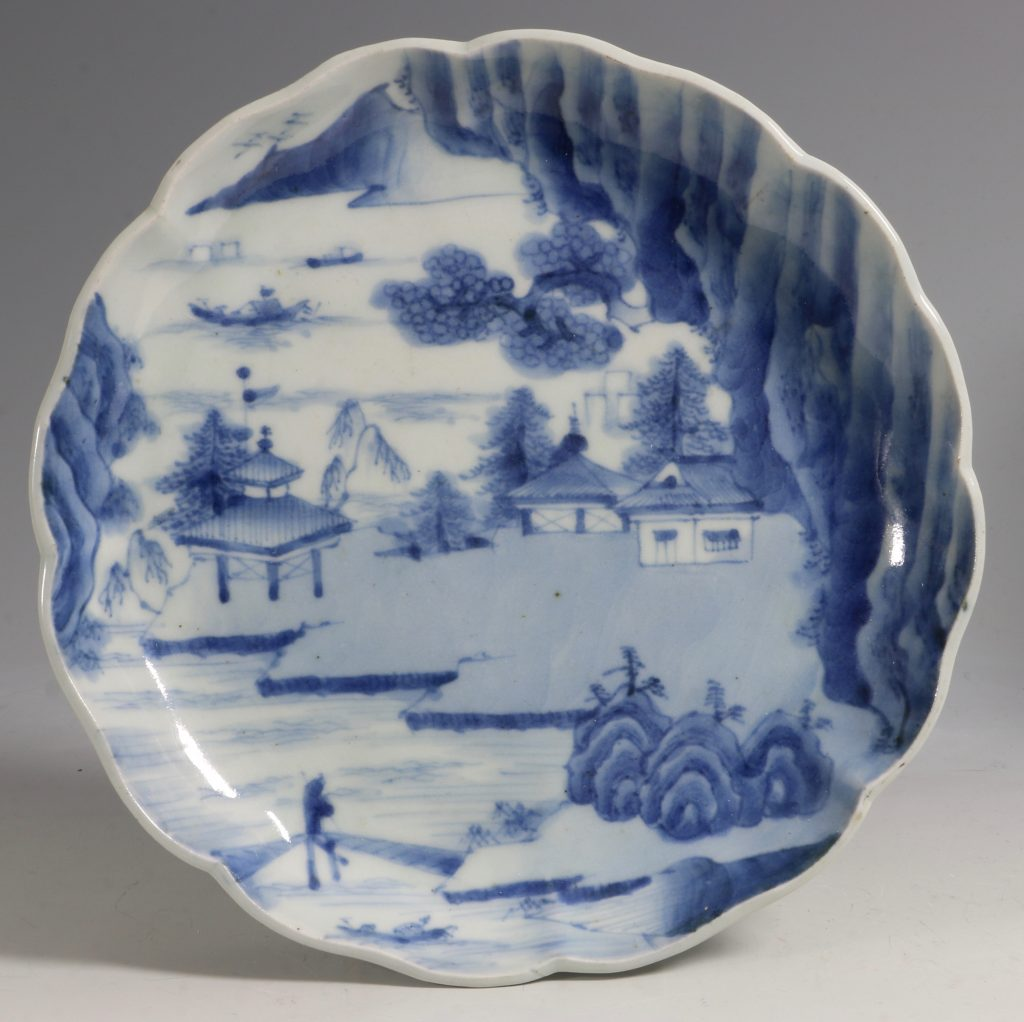 A Pair of Japanese Arita Blue and White Dishes L18thC 1