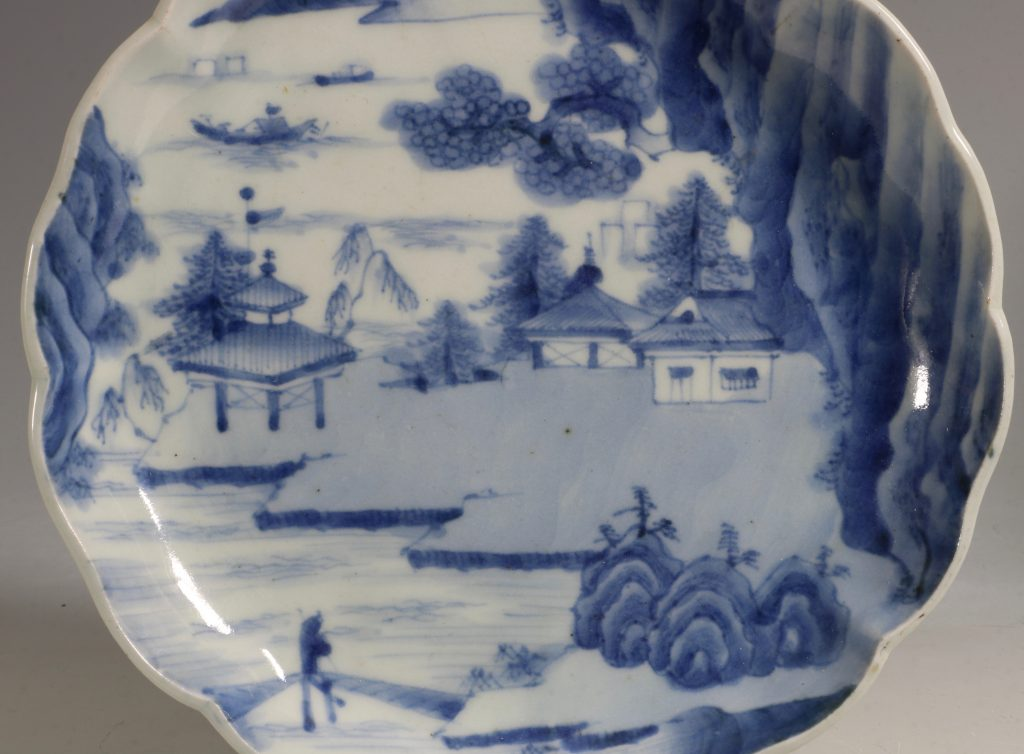 A Pair of Japanese Arita Blue and White Dishes L18thC 2