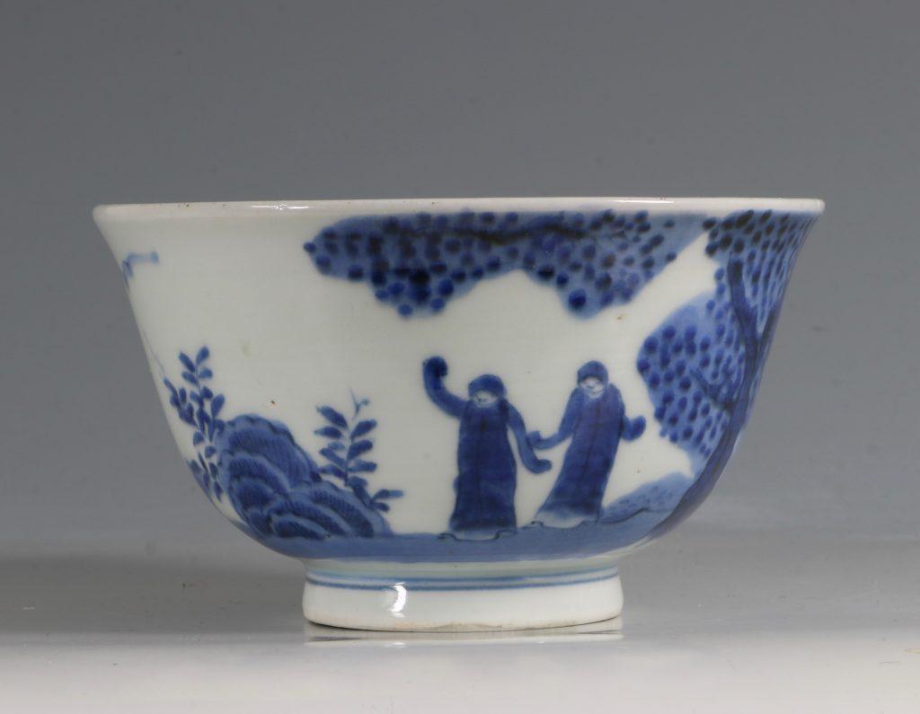 A Japanese Arita Blue and White Bowl 18/19thC