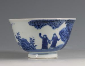 A Japanese Arita Blue and White Bowl 18/19thC