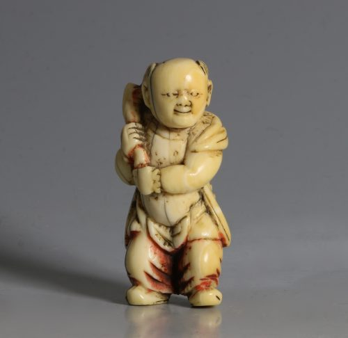 A Chinese Ivory Carving of a Boy 17/18thC