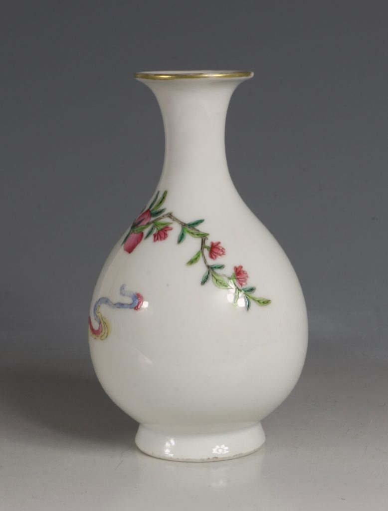 A Famille Rose Vase Daoguang Mid19tyhC 2