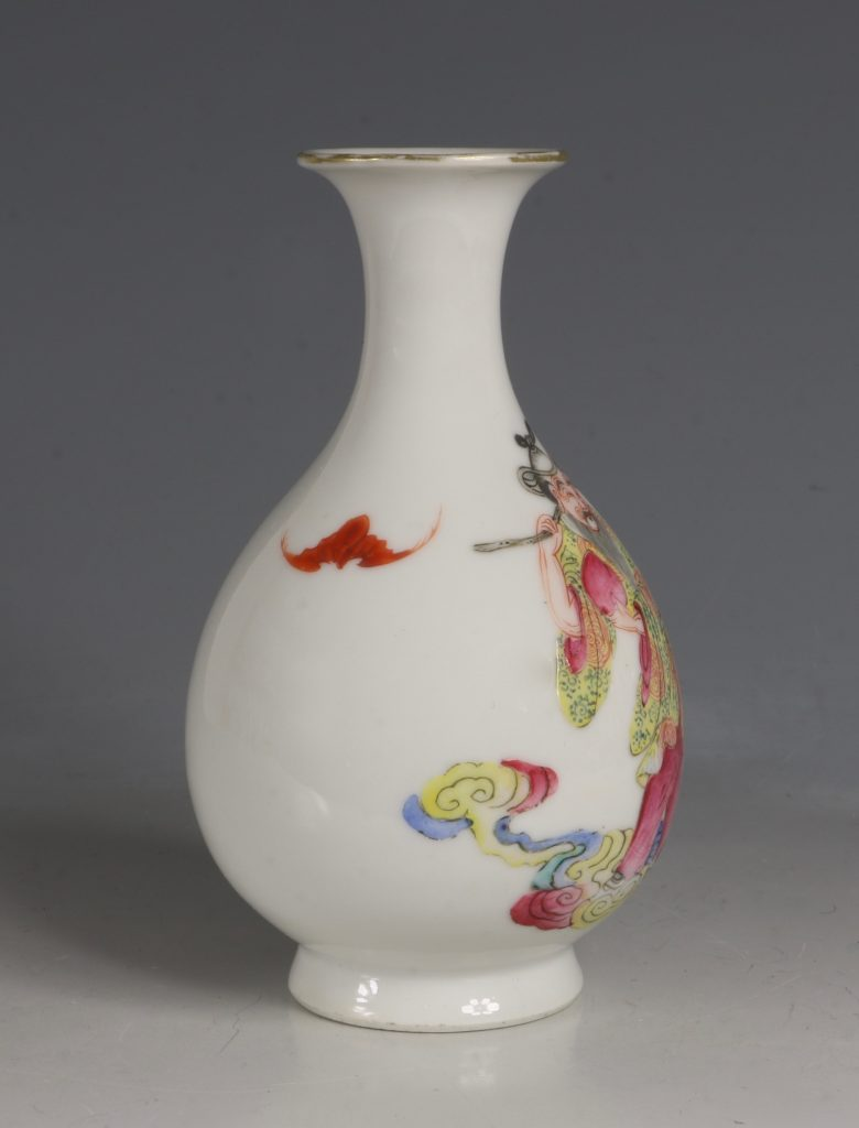 A Famille Rose Vase Daoguang Mid19tyhC 3