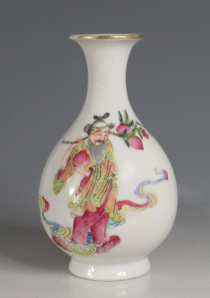 A Famille Rose Vase Daoguang Mid19tyhC 4
