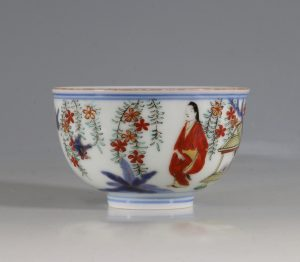A Japanese Arita Tea Bowl 17/18thC