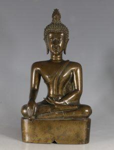 A Northern Thai/Laos Seated Buddha 17/18thC