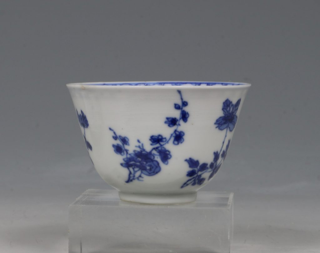 A Blue and White Tea Bowl and Saucer Kangxi C1700 4