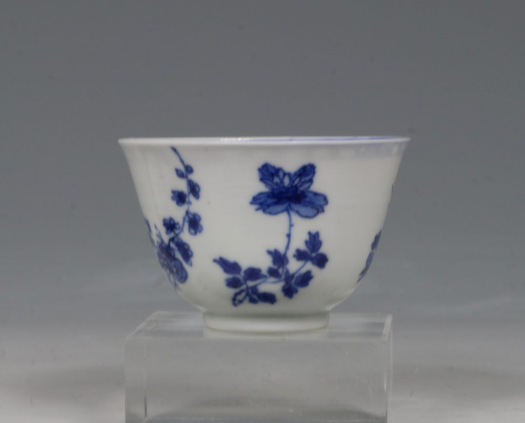 A Blue and White Tea Bowl and Saucer Kangxi C1700 5