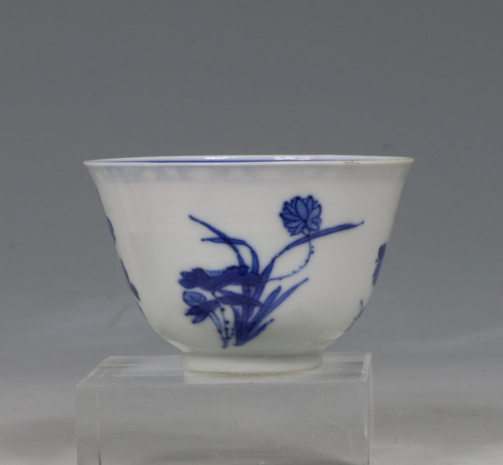 A Blue and White Tea Bowl and Saucer Kangxi C1700 6