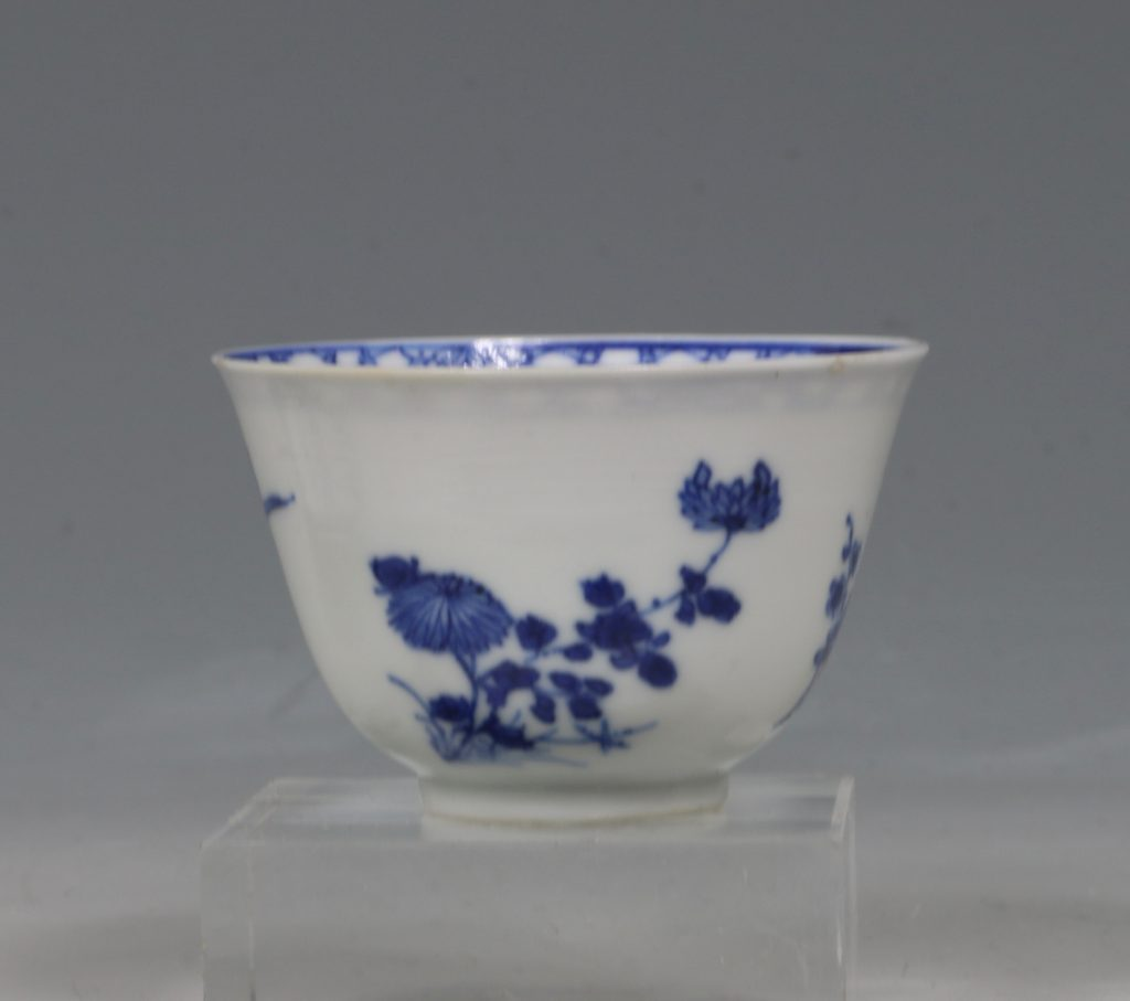 A Blue and White Tea Bowl and Saucer Kangxi C1700 7