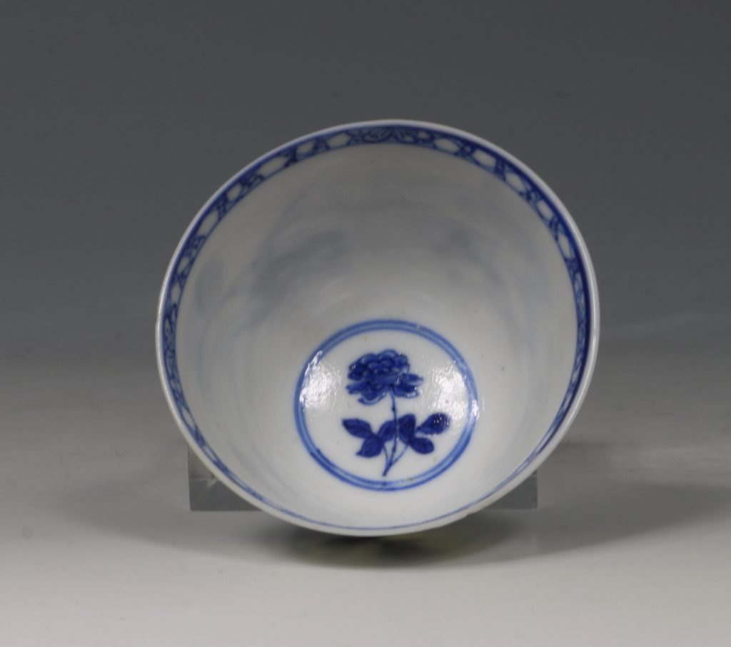 A Blue and White Tea Bowl and Saucer Kangxi C1700 8