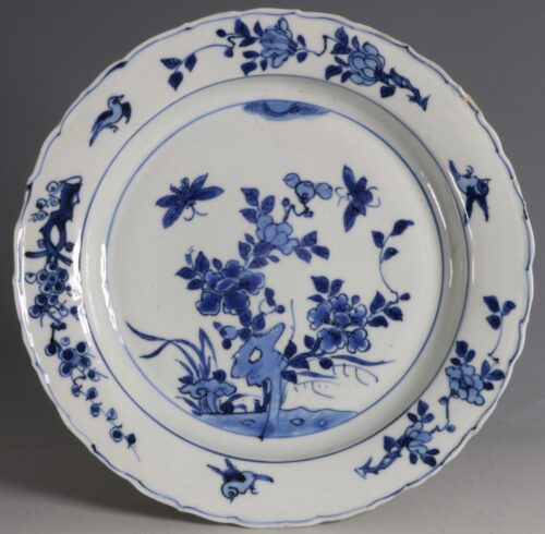 A Late Ming Blue and White Plate Wanli C1600