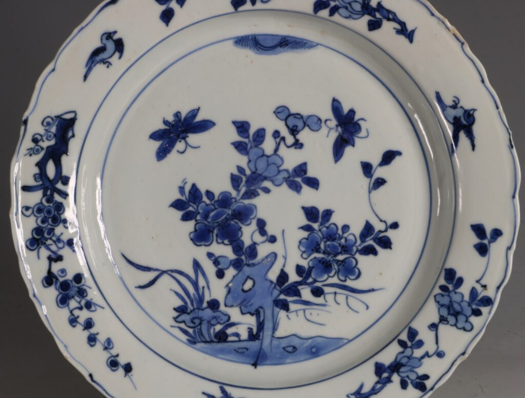 A Late Ming Blue and White Plate Wanli C1600 1