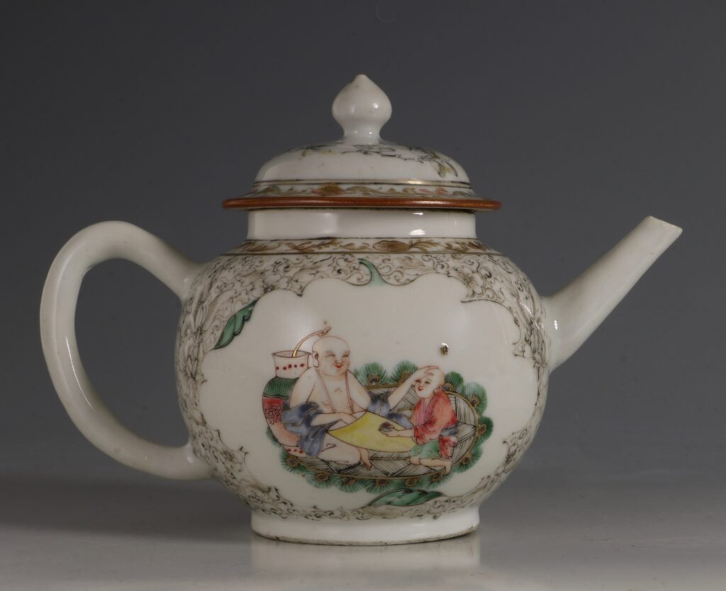A Famille Rose Teapot C1735/45