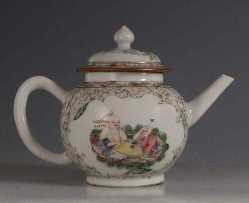 A Famille Rose Teapot C1735/45