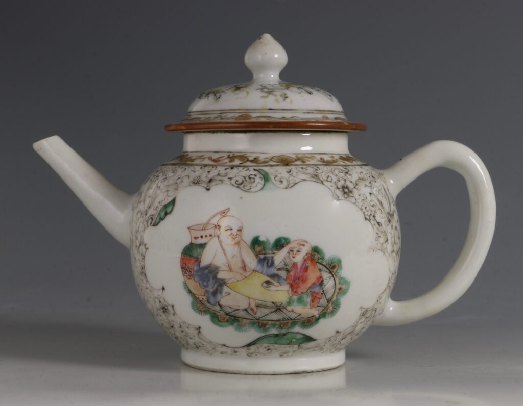 A Famille Rose Teapot C1735/45 1