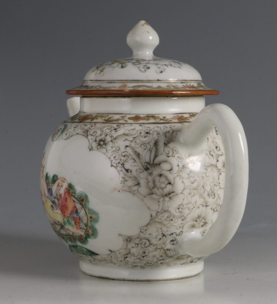 A Famille Rose Teapot C1735/45 2