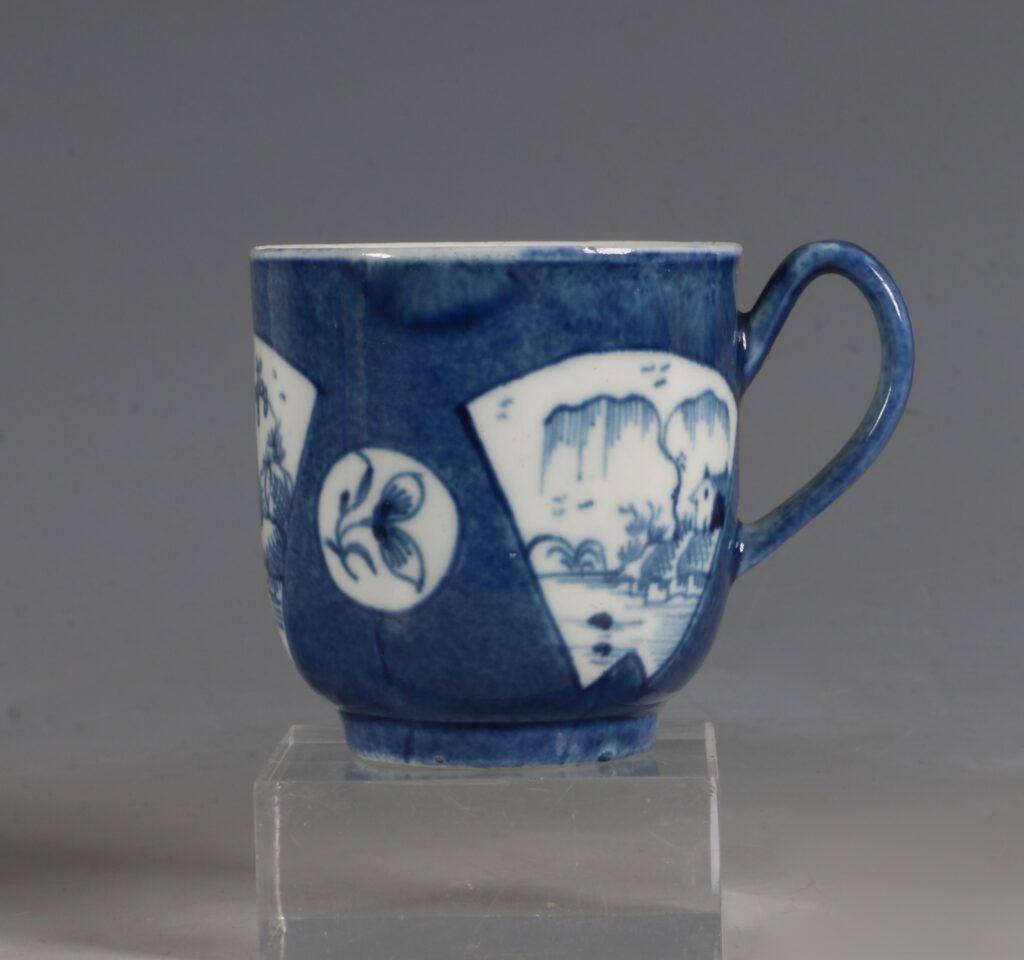 A Worcester Powder Blue Ground Cup and Saucer C1765/70 1