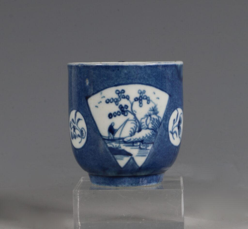A Worcester Powder Blue Ground Cup and Saucer C1765/70 2