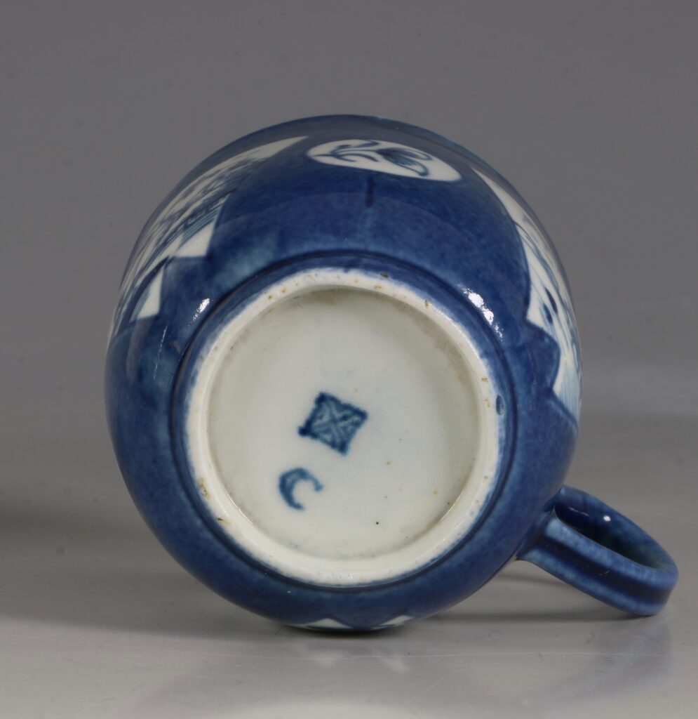 A Worcester Powder Blue Ground Cup and Saucer C1765/70 5