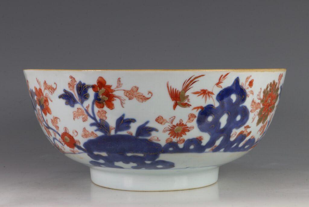 A Chinese Imari Punchbowl Qianlong C1760