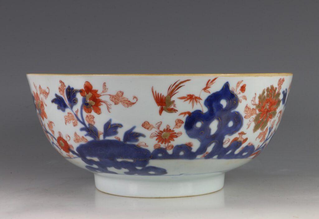 A Chinese Imari Punchbowl Qianlong C1760 1
