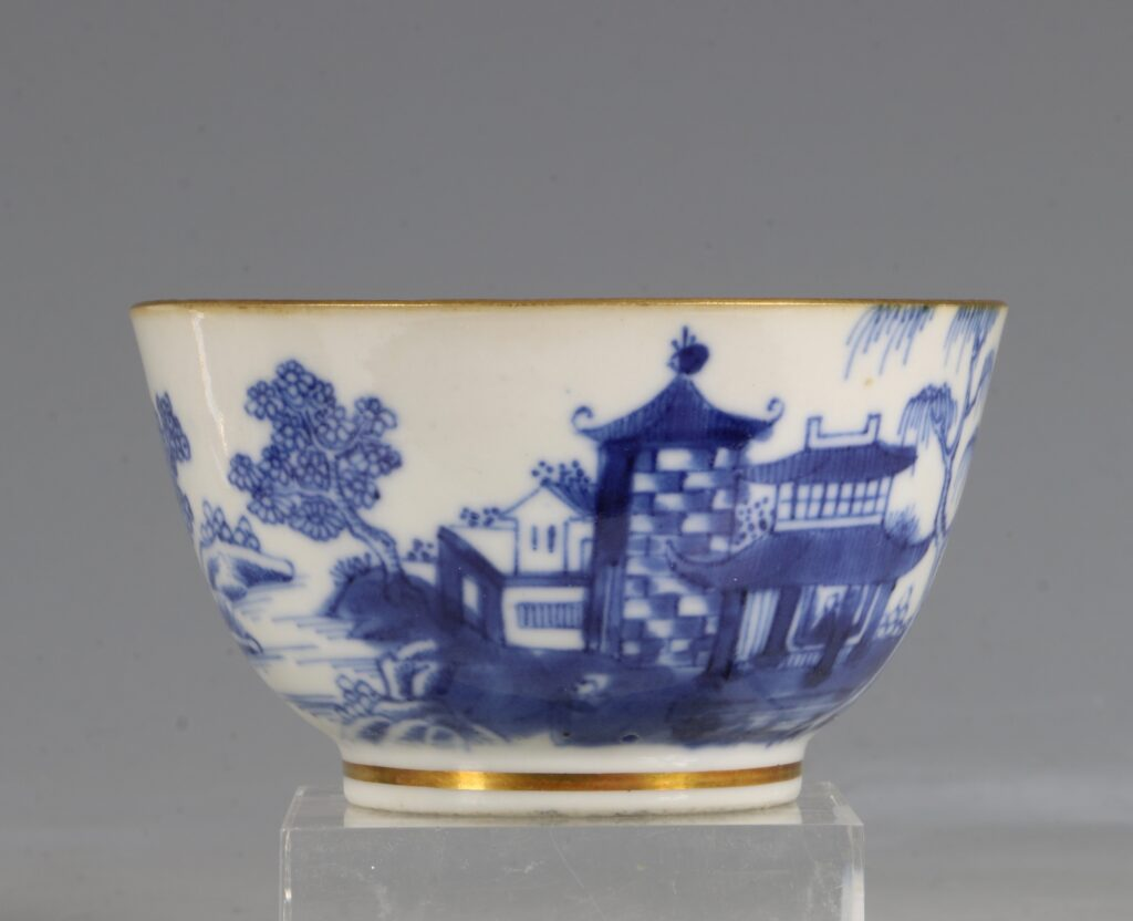 A London Gilded Chinese Tea Bowl and Saucer C1775-90 2