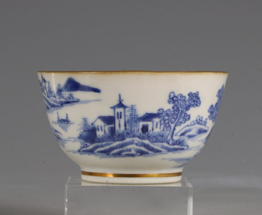 A London Gilded Chinese Tea Bowl and Saucer C1775-90 3