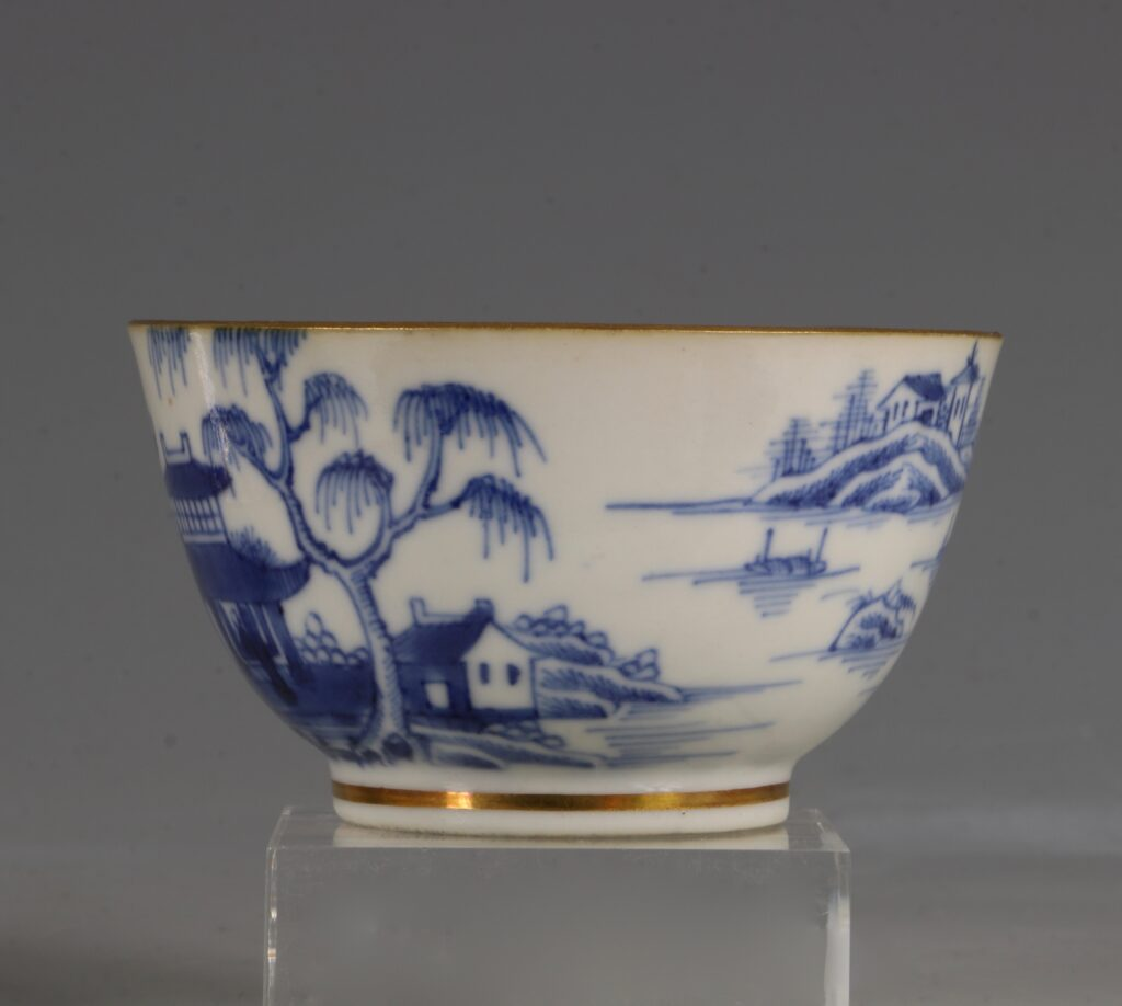 A London Gilded Chinese Tea Bowl and Saucer C1775-90 5