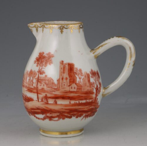 A Rare London Decorated Chinese Cream Jug C1758-63 Probably James Giles
