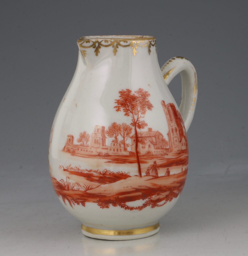 A Rare London Decorated Chinese Cream Jug C1758-63 Probably James Giles 1