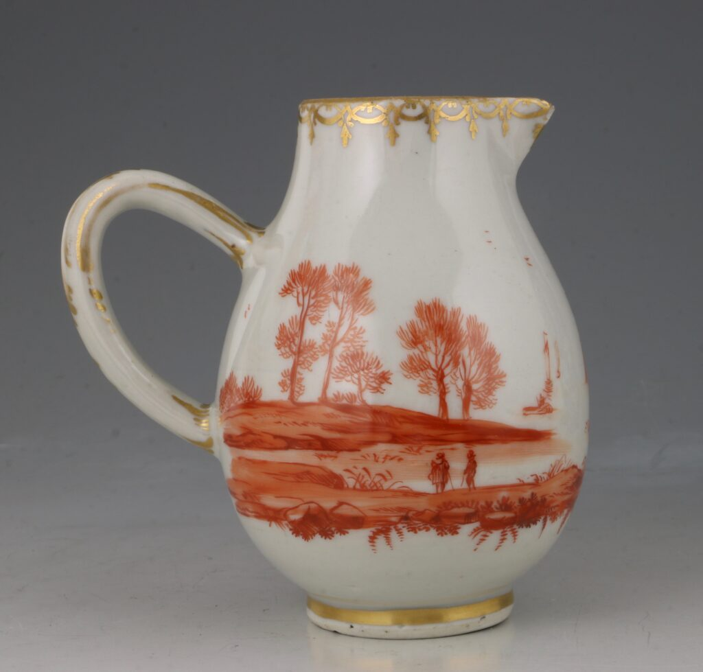A Rare London Decorated Chinese Cream Jug C1758-63 Probably James Giles 3