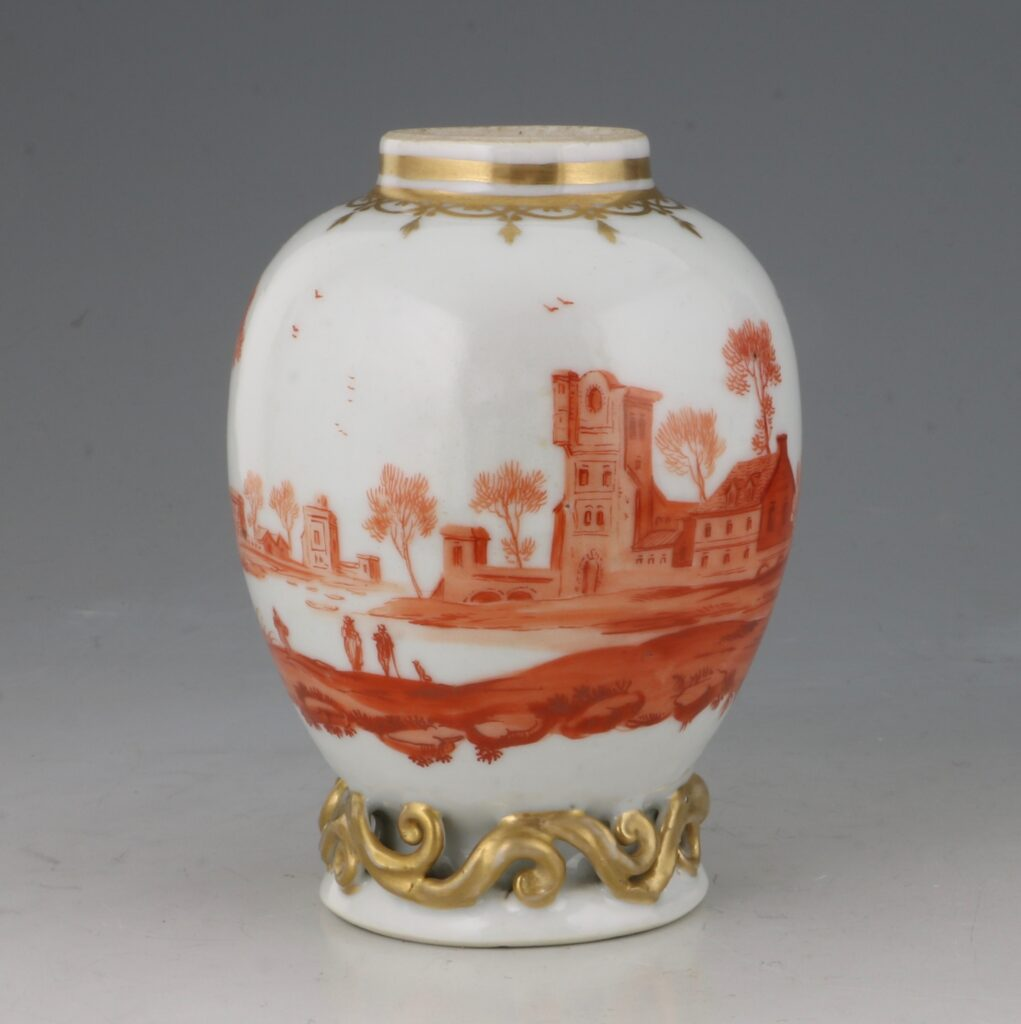 A Rare London Decorated Chinese Tea Caddy C1758-63 Probably James Giles