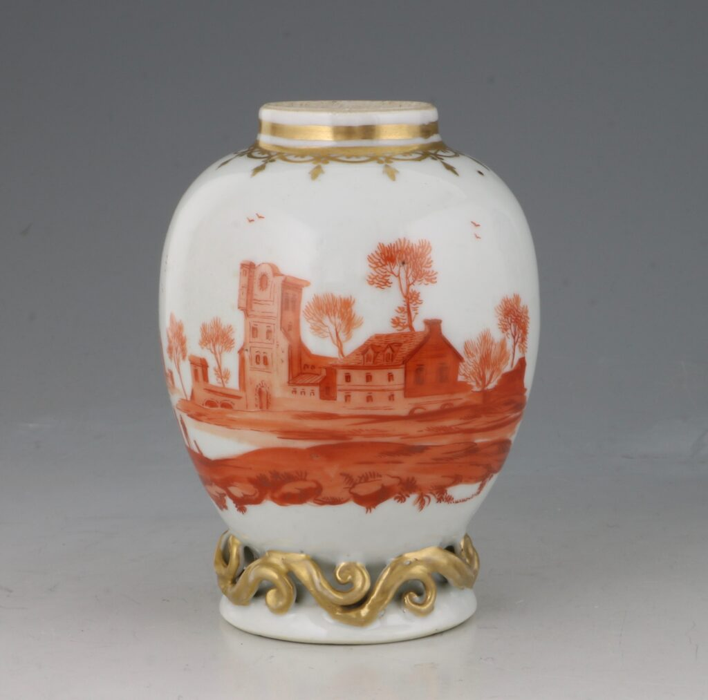 A Rare London Decorated Chinese Tea Caddy C1758-63 Probably James Giles 1