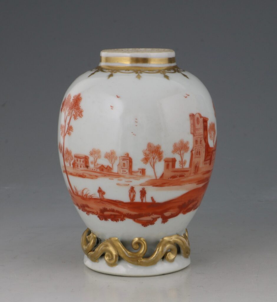 A Rare London Decorated Chinese Tea Caddy C1758-63 Probably James Giles 2