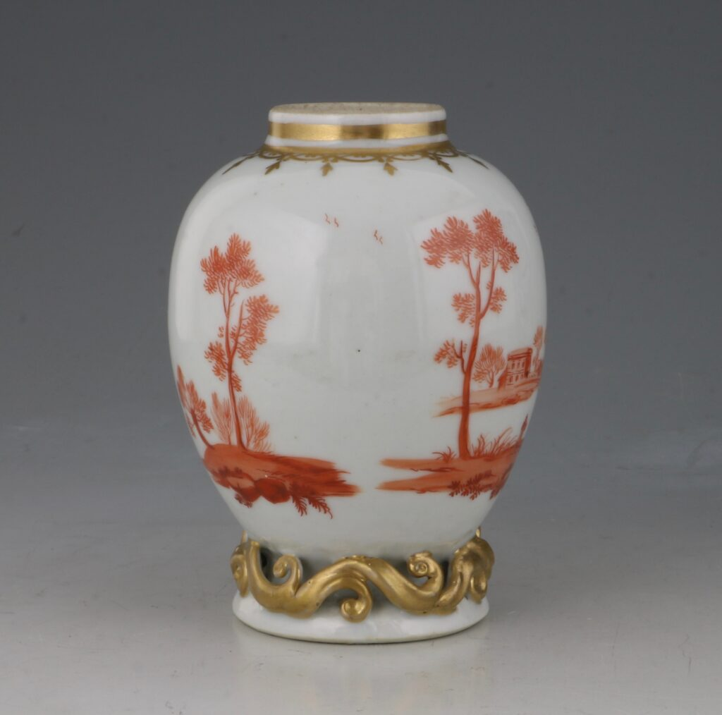 A Rare London Decorated Chinese Tea Caddy C1758-63 Probably James Giles 4