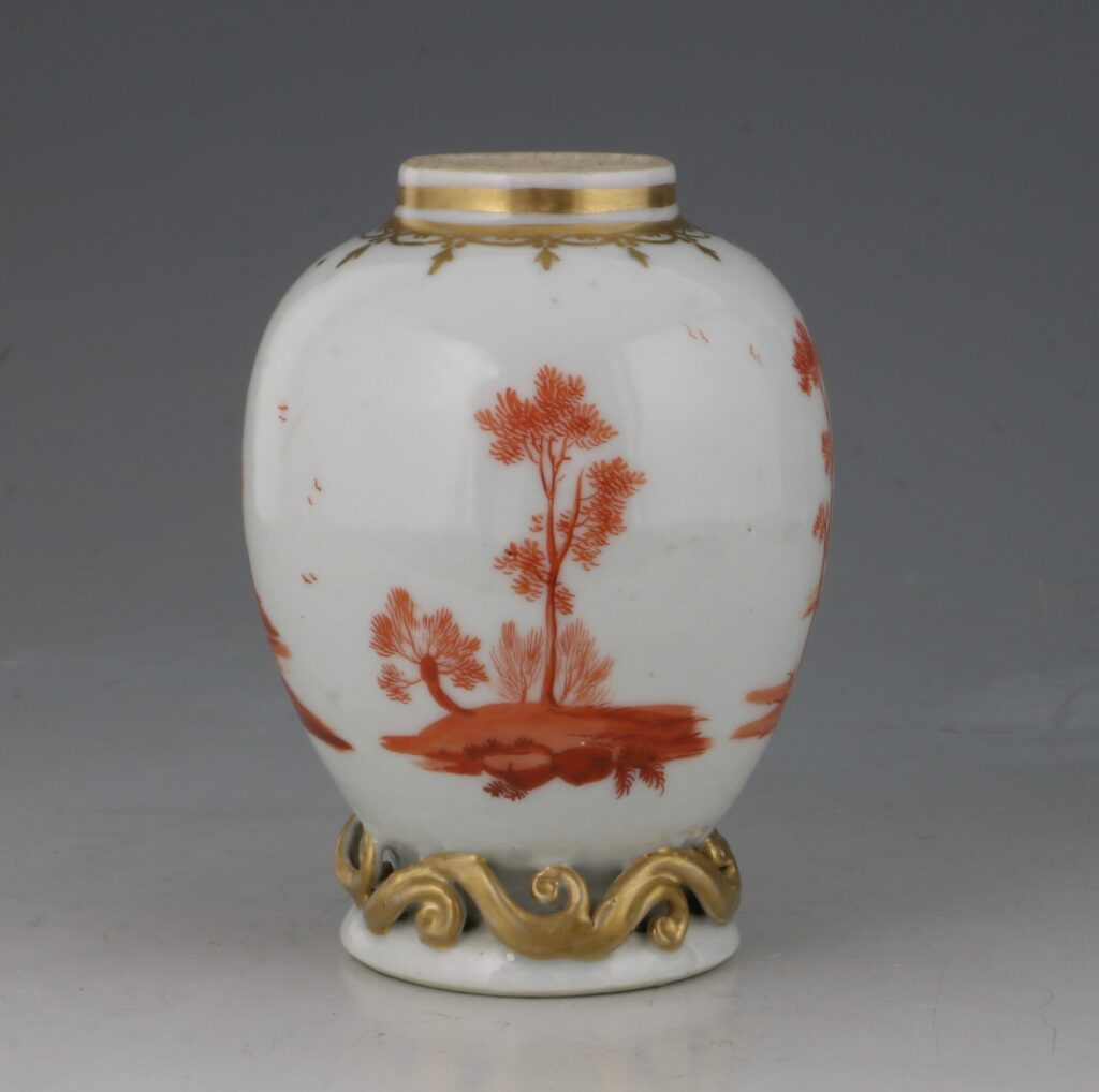 A Rare London Decorated Chinese Tea Caddy C1758-63 Probably James Giles 5